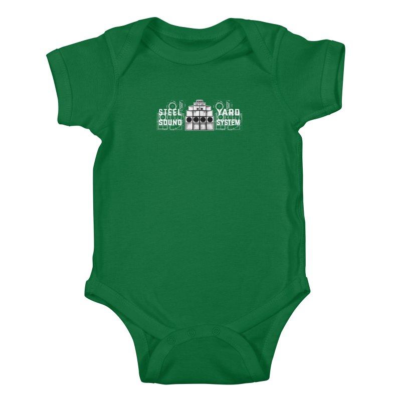 Steel Yard Sound Schematics Logo Kids Baby Bodysuit by Steelyard Soundsystem Gear