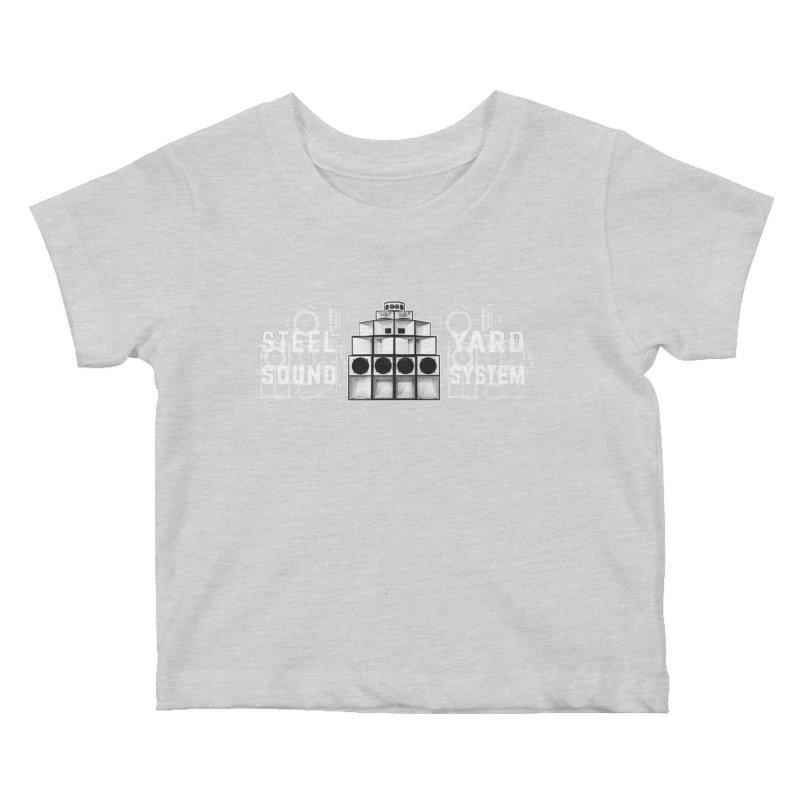 Steel Yard Sound Schematics Logo Kids Baby T-Shirt by Steelyard Soundsystem Gear