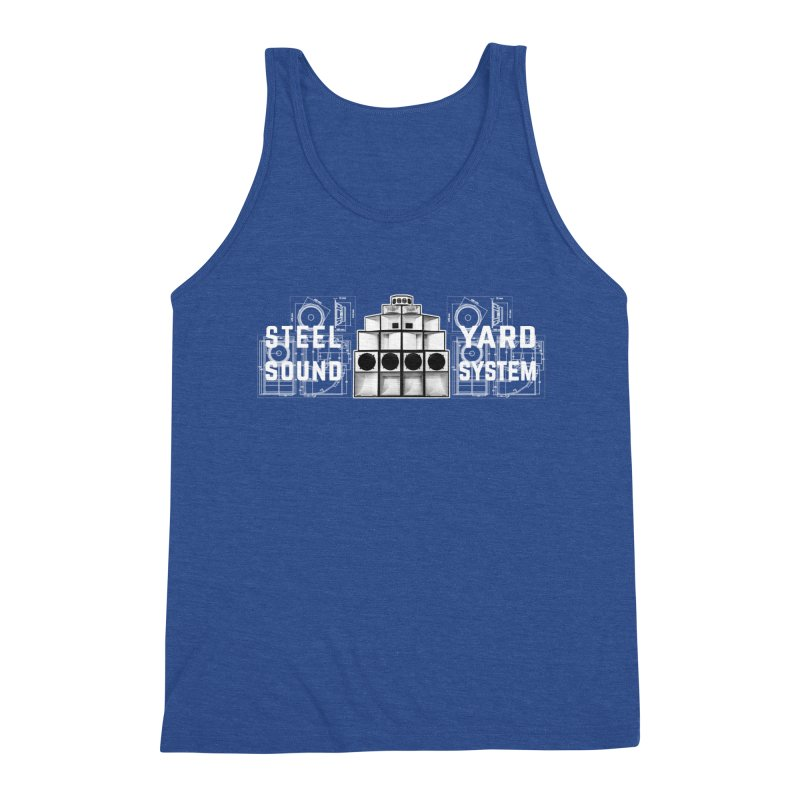 Steel Yard Sound Schematics Logo Men's Tank by Steelyard Soundsystem Gear