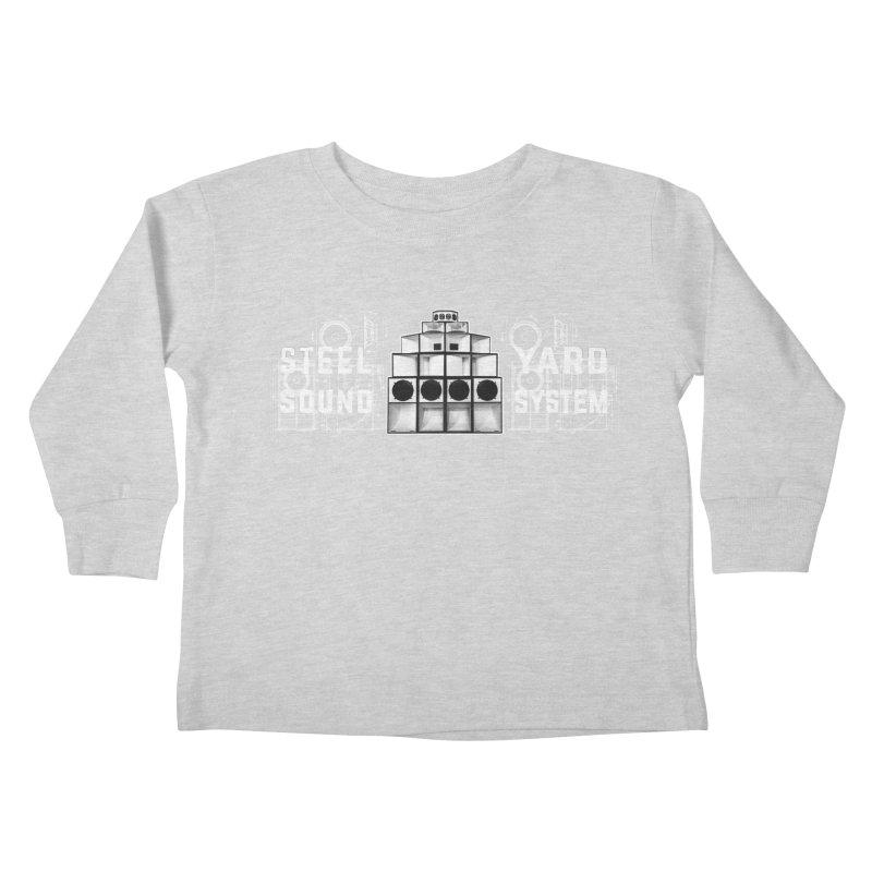 Steel Yard Sound Schematics Logo Kids Toddler Longsleeve T-Shirt by Steelyard Soundsystem Gear