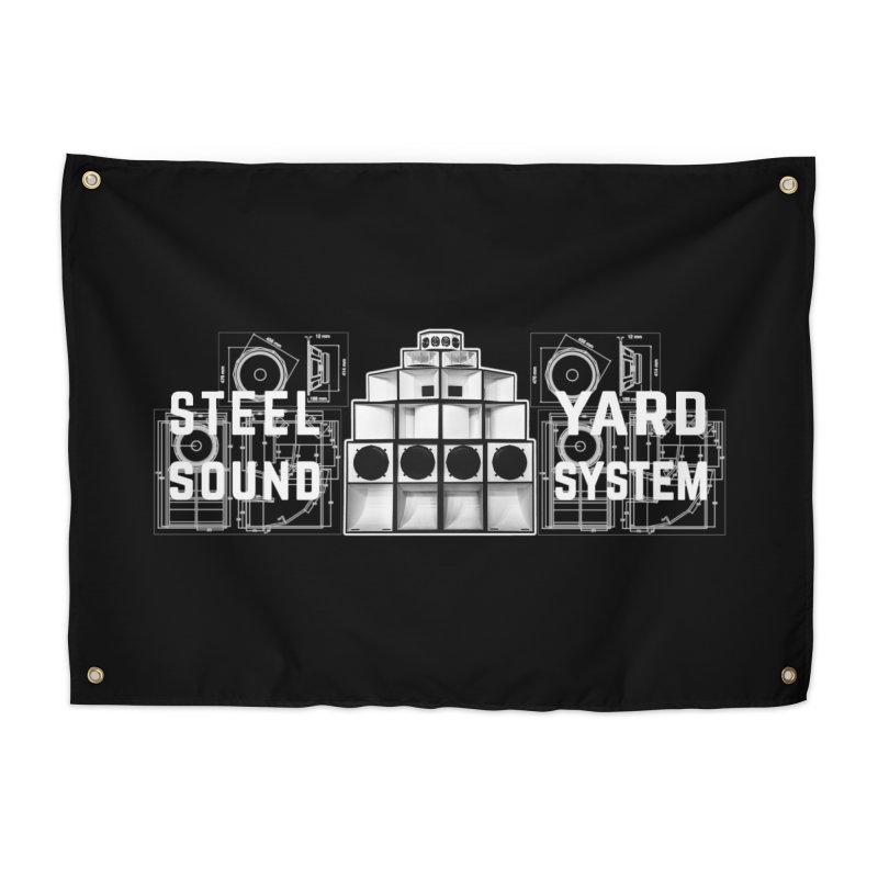 Steel Yard Sound Schematics Logo Home Tapestry by Steelyard Soundsystem Gear