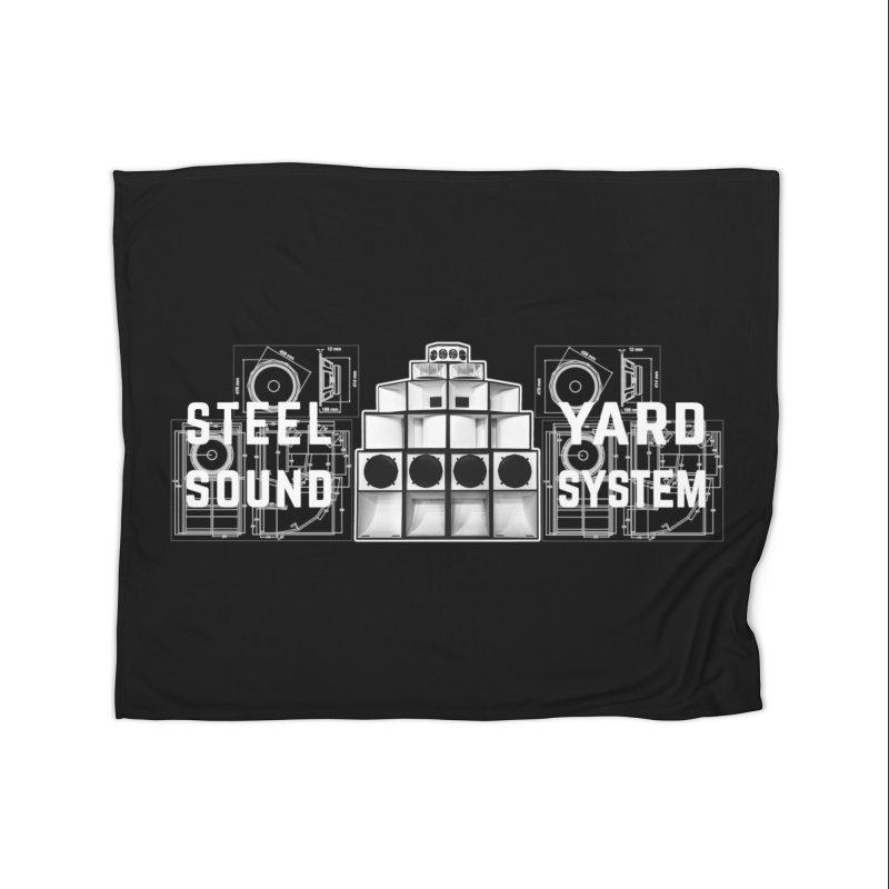 Steel Yard Sound Schematics Logo Home Fleece Blanket Blanket by Steelyard Soundsystem Gear