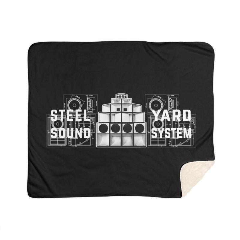 Steel Yard Sound Schematics Logo Home Sherpa Blanket Blanket by Steelyard Soundsystem Gear