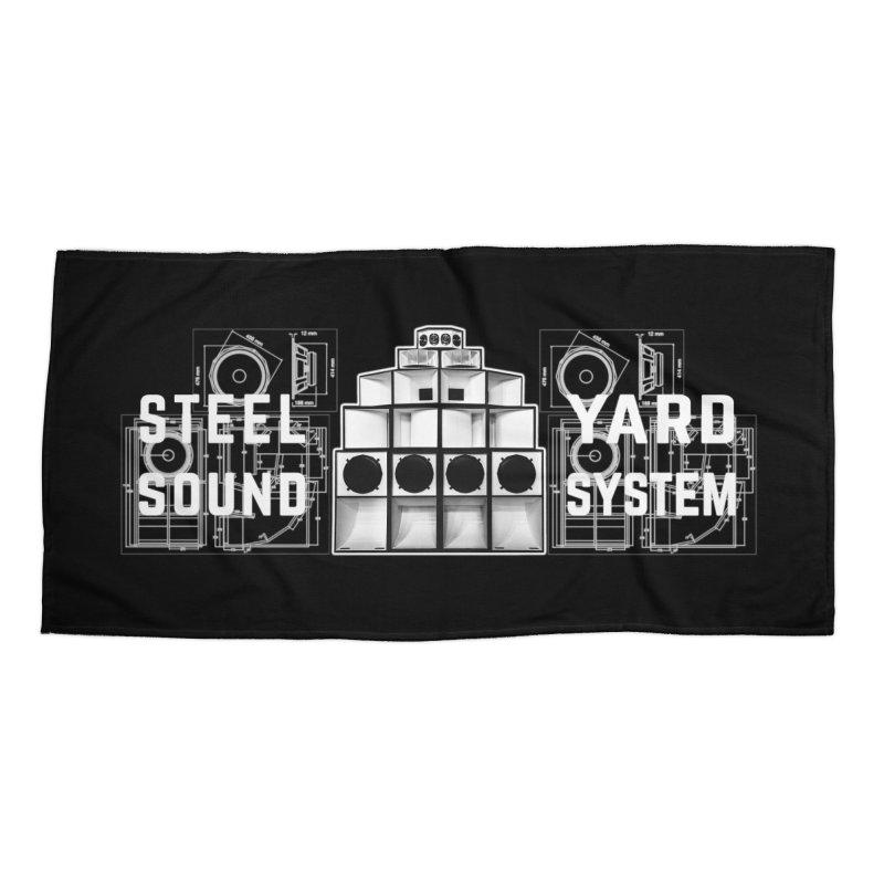 Steel Yard Sound Schematics Logo Accessories Beach Towel by Steelyard Soundsystem Gear