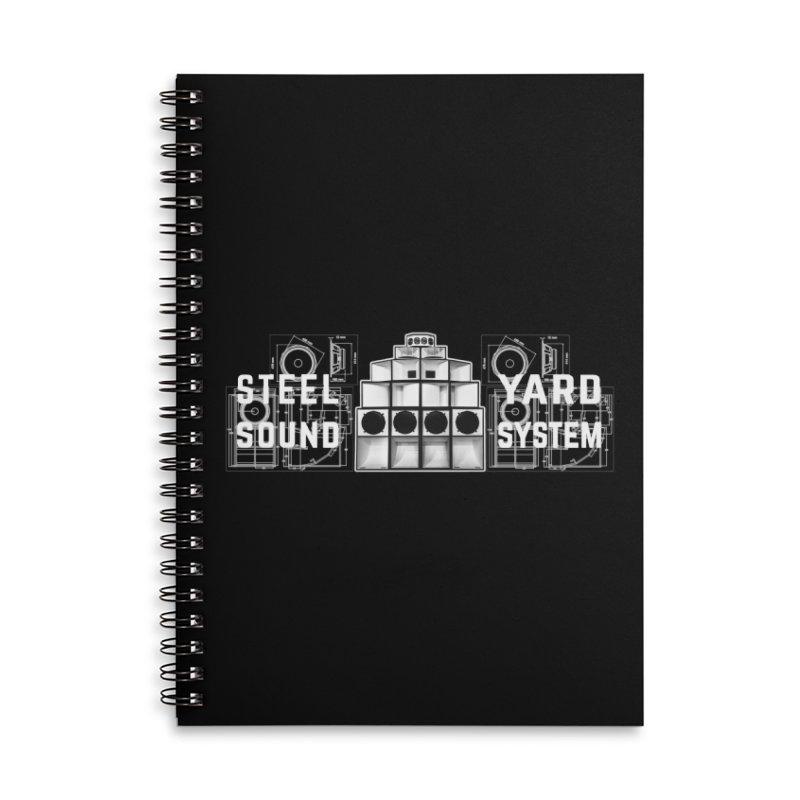 Steel Yard Sound Schematics Logo Accessories Lined Spiral Notebook by Steelyard Soundsystem Gear