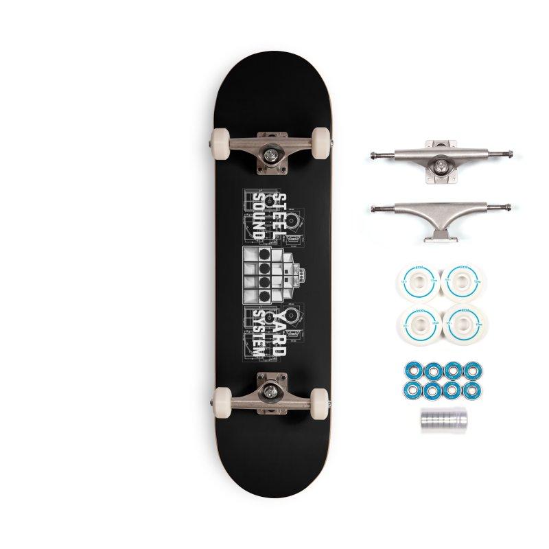 Steel Yard Sound Schematics Logo Accessories Skateboard by Steelyard Soundsystem Gear