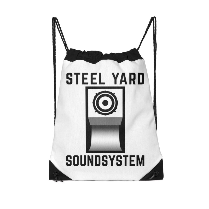 Steel Yard Scoop Speaker Graphic Accessories Drawstring Bag Bag by Steelyard Soundsystem Gear