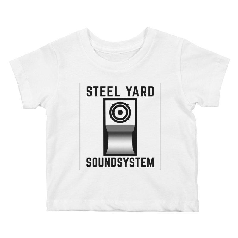 Steel Yard Scoop Speaker Graphic Kids Baby T-Shirt by Steelyard Soundsystem Gear