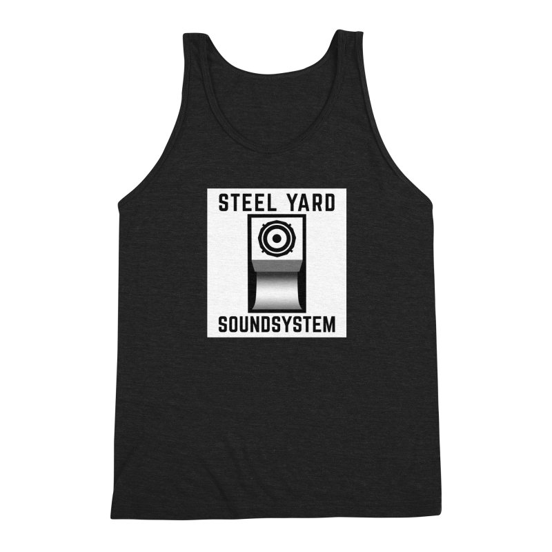 Steel Yard Scoop Speaker Graphic Men's Triblend Tank by Steelyard Soundsystem Gear