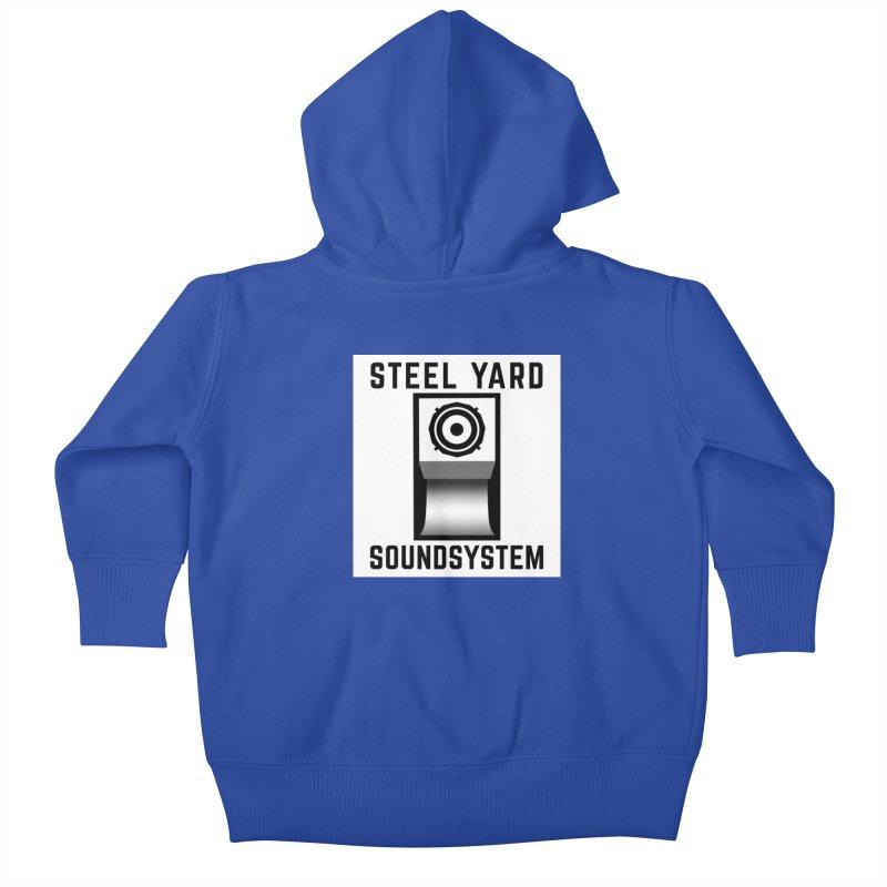 Steel Yard Scoop Speaker Graphic Kids Baby Zip-Up Hoody by Steelyard Soundsystem Gear