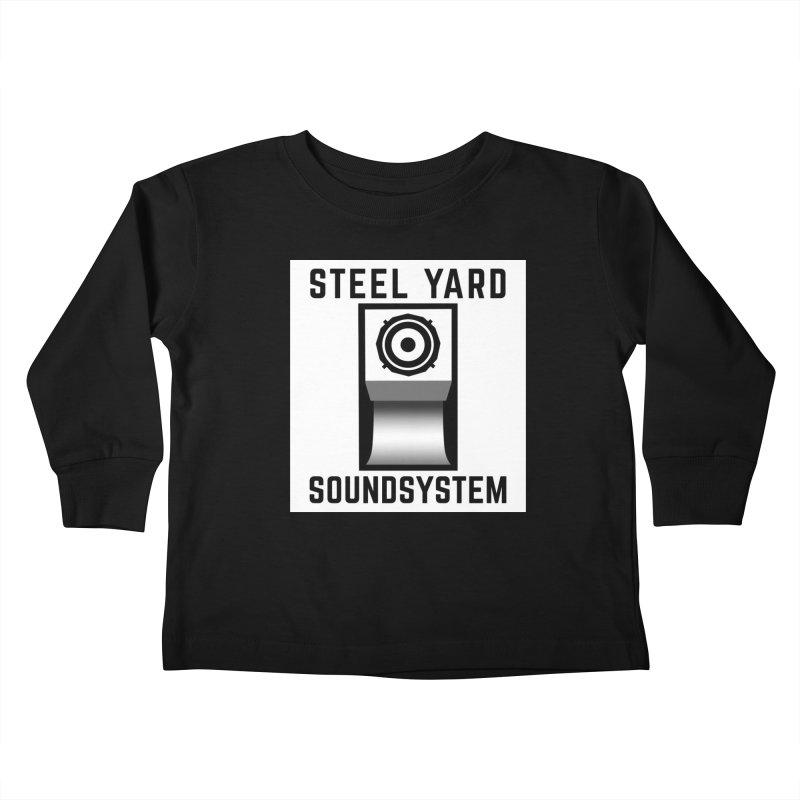 Steel Yard Scoop Speaker Graphic Kids Toddler Longsleeve T-Shirt by Steelyard Soundsystem Gear