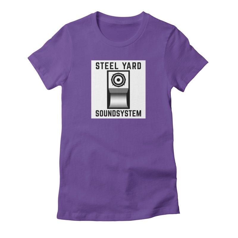 Steel Yard Scoop Speaker Graphic Women's Fitted T-Shirt by Steelyard Soundsystem Gear