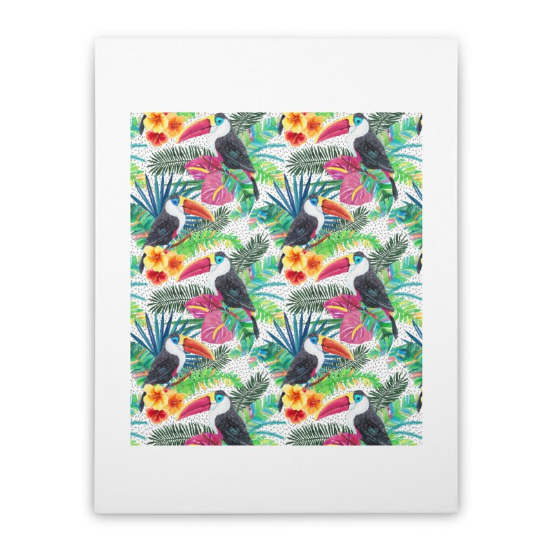 Tropical Vibe Home Stretched Canvas by StellaCaraman's