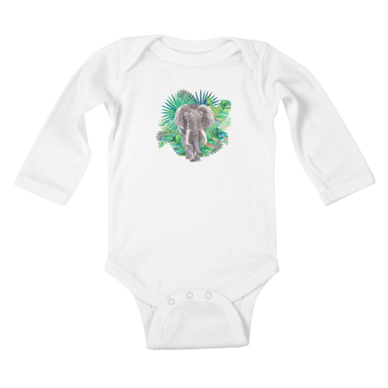 Tropical Vibe Kids Baby Longsleeve Bodysuit by StellaCaraman's