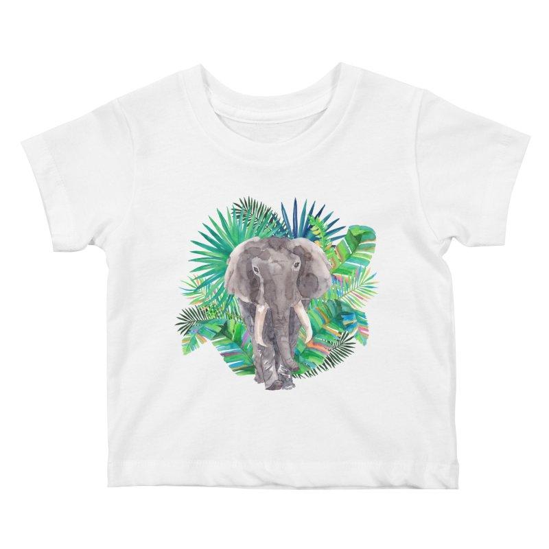 Tropical Vibe Kids Baby T-Shirt by StellaCaraman's