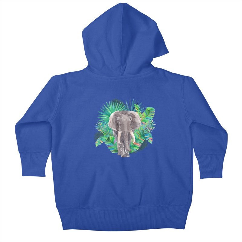 Tropical Vibe Kids Baby Zip-Up Hoody by StellaCaraman's