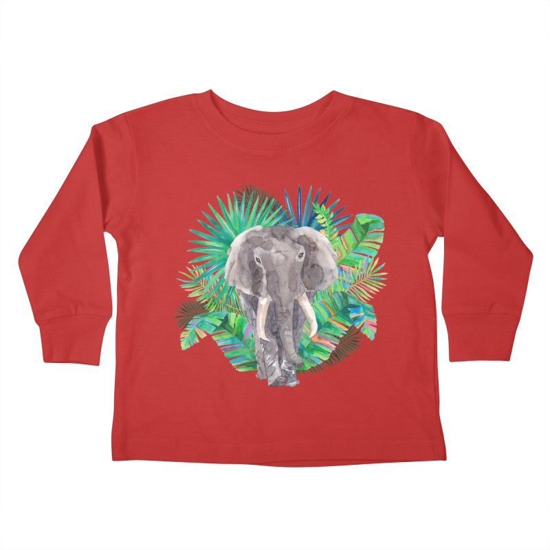 Tropical Vibe Kids Toddler Longsleeve T-Shirt by StellaCaraman's