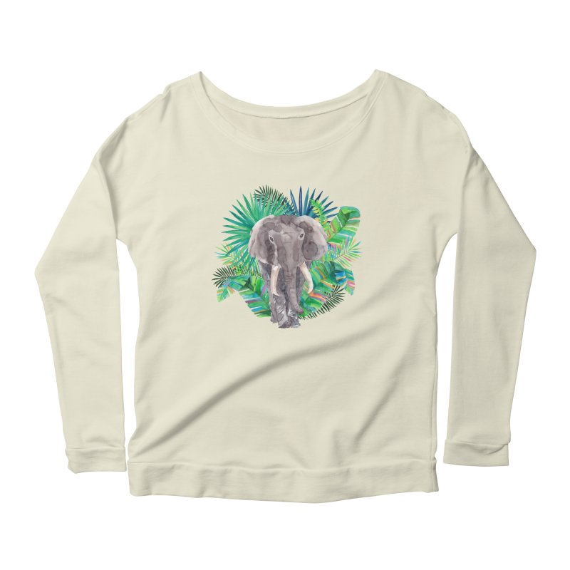 Tropical Vibe Women's Longsleeve Scoopneck  by StellaCaraman's