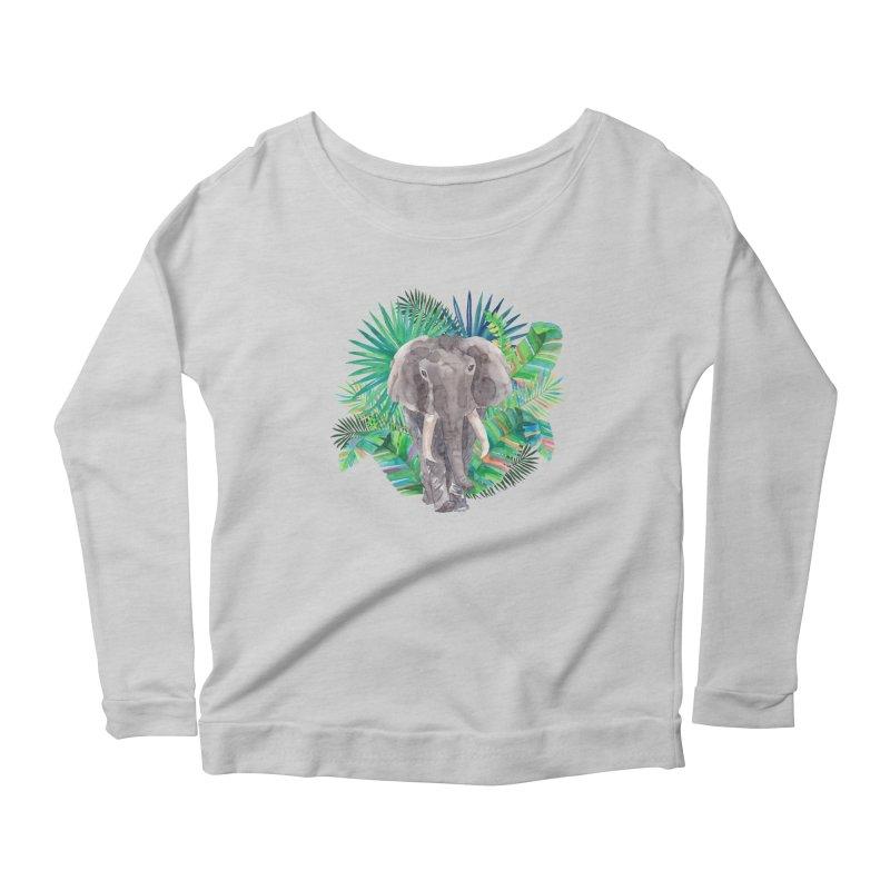 Tropical Vibe Women's Scoop Neck Longsleeve T-Shirt by StellaCaraman's