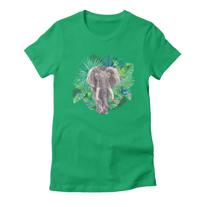 Tropical Vibe Women's Fitted T-Shirt by StellaCaraman's
