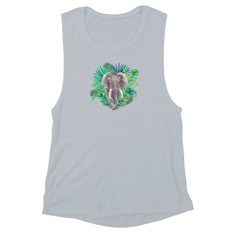Tropical Vibe Women's Muscle Tank by StellaCaraman's