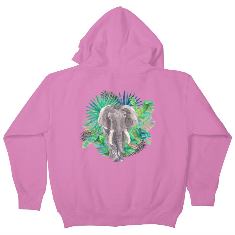 Tropical Vibe Kids Zip-Up Hoody by StellaCaraman's