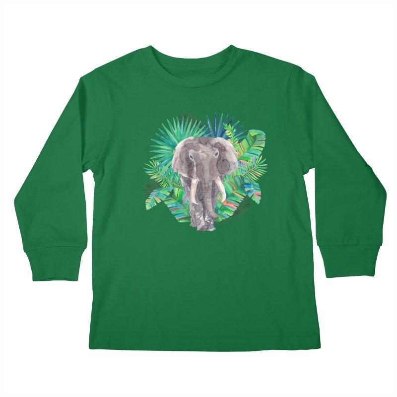 Tropical Vibe Kids Longsleeve T-Shirt by StellaCaraman's