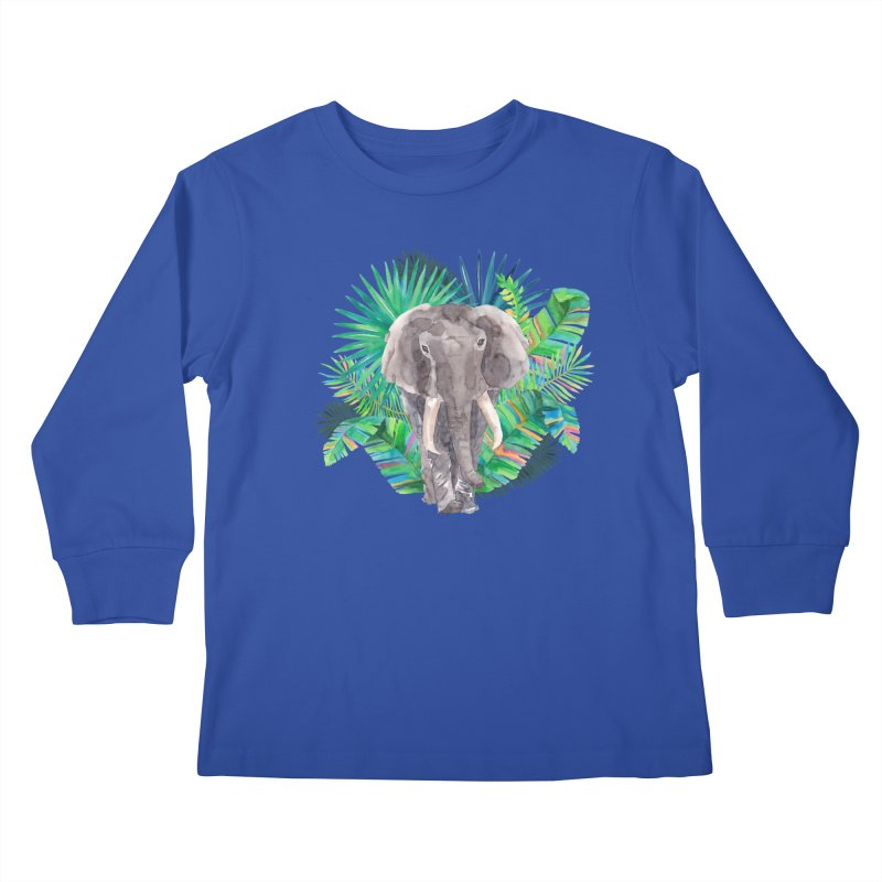 Tropical Vibe Kids Longsleeve T-Shirt by StellaCaraman's