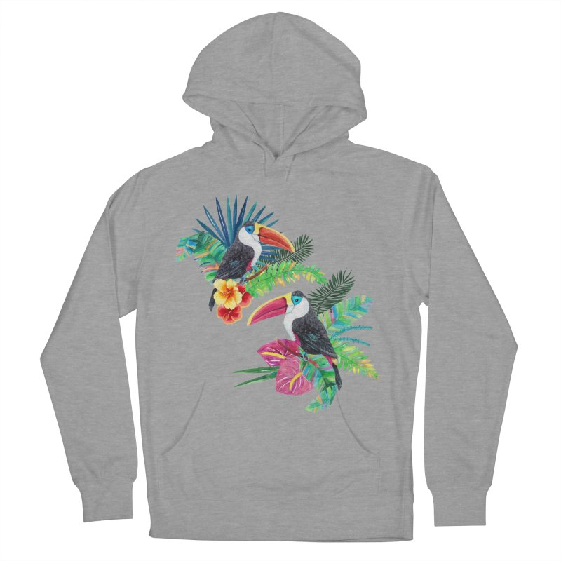 Toucan Birds Men's French Terry Pullover Hoody by StellaCaraman's