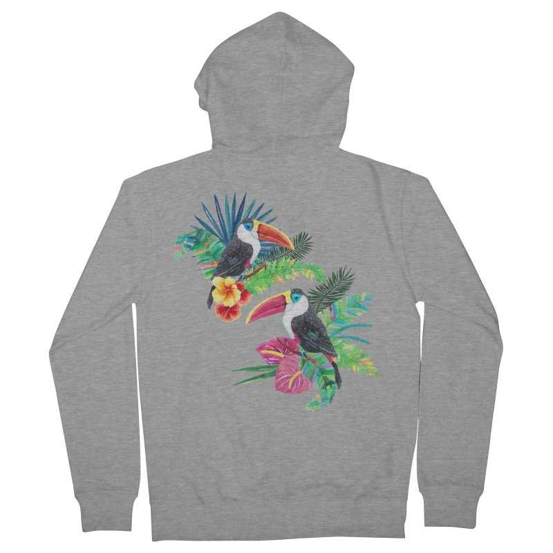 Toucan Birds Women's French Terry Zip-Up Hoody by StellaCaraman's