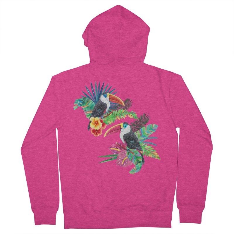 Toucan Birds Women's Zip-Up Hoody by StellaCaraman's