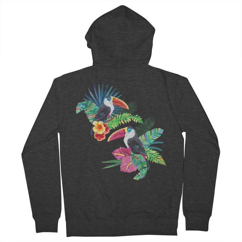 Toucan Birds Men's Zip-Up Hoody by StellaCaraman's