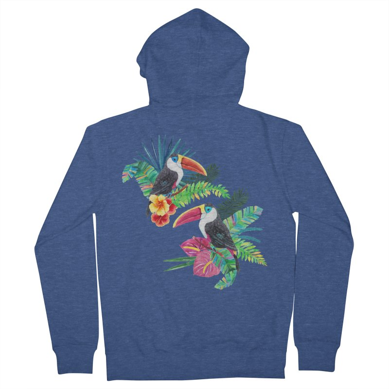Toucan Birds Men's French Terry Zip-Up Hoody by StellaCaraman's