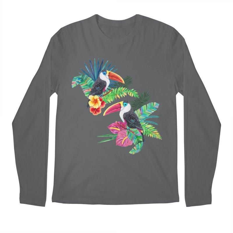 Toucan Birds Men's Longsleeve T-Shirt by StellaCaraman's