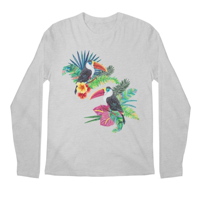 Toucan Birds Men's Regular Longsleeve T-Shirt by StellaCaraman's
