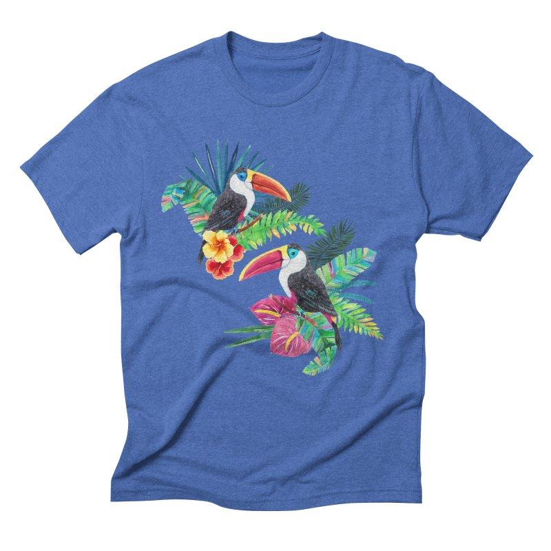 Toucan Birds Men's Triblend T-Shirt by StellaCaraman's