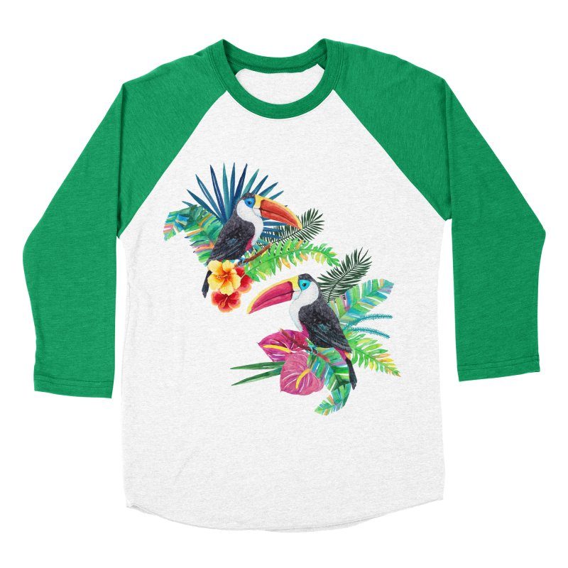 Toucan Birds Women's Baseball Triblend T-Shirt by StellaCaraman's