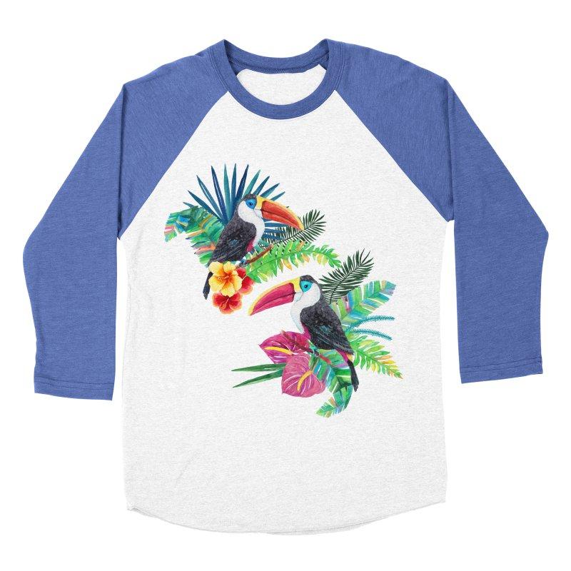 Toucan Birds Men's Baseball Triblend Longsleeve T-Shirt by StellaCaraman's