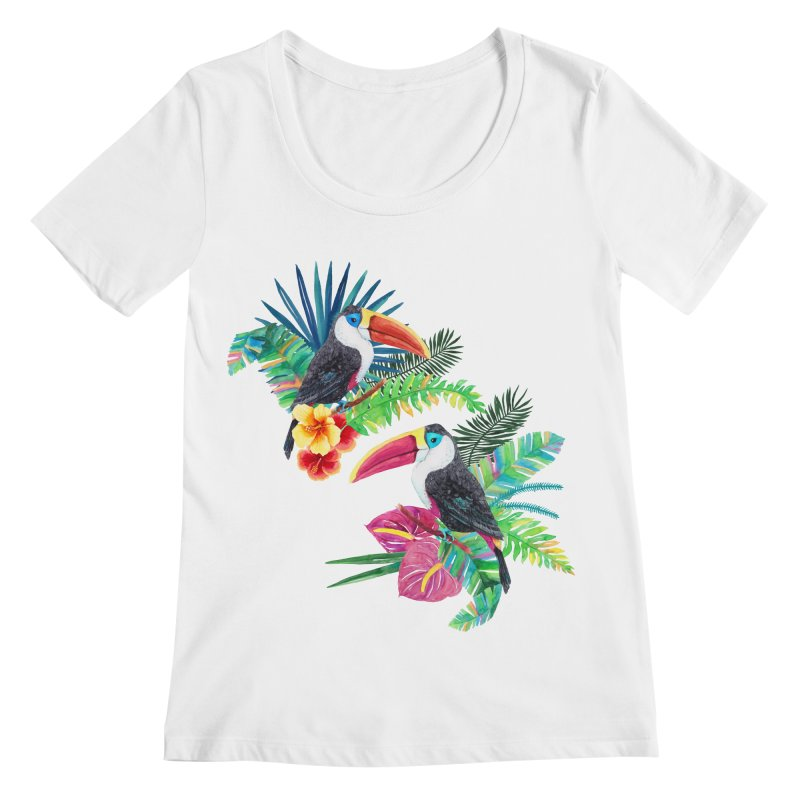 Toucan Birds Women's Regular Scoop Neck by StellaCaraman's