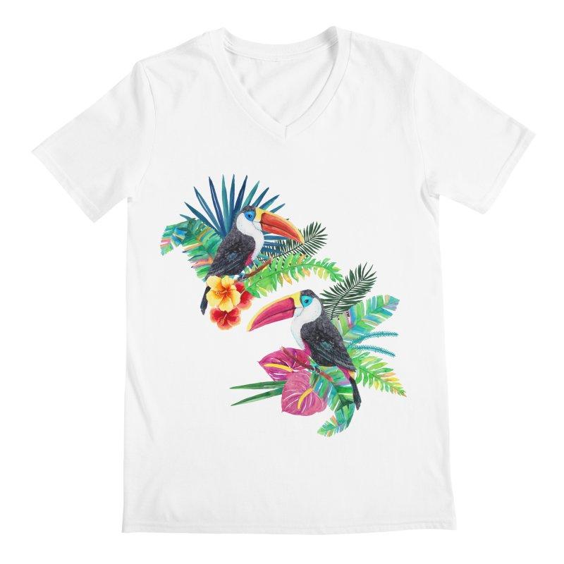 Toucan Birds Men's V-Neck by StellaCaraman's