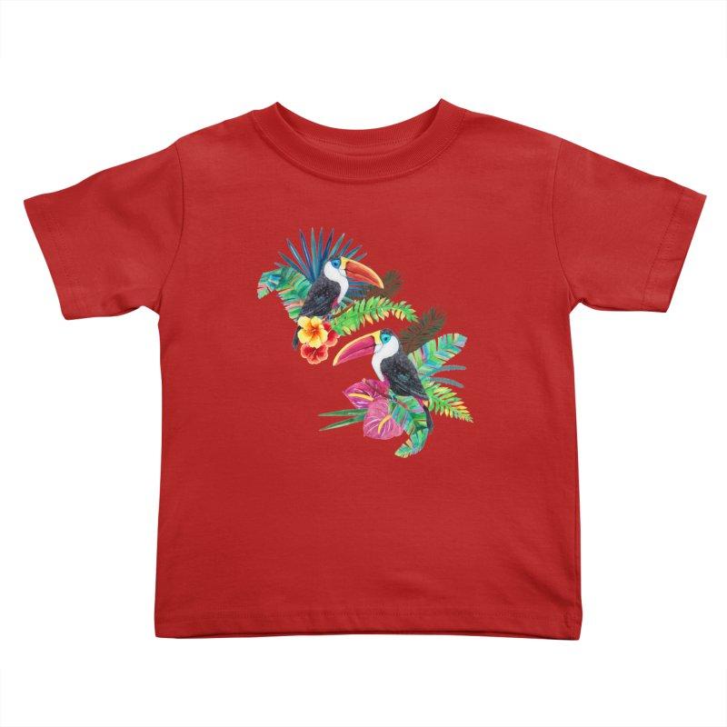 Toucan Birds Kids Toddler T-Shirt by StellaCaraman's
