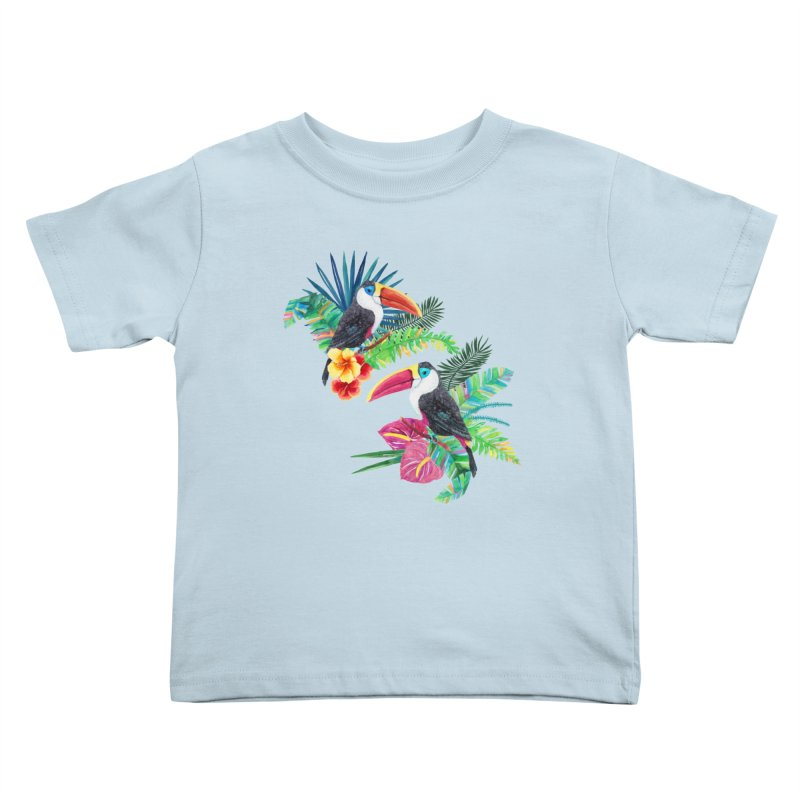 Toucan Birds Kids Toddler T-Shirt by StellaCaraman's