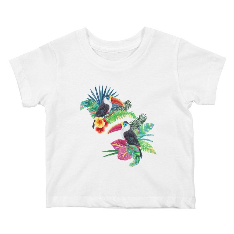 Toucan Birds Kids Baby T-Shirt by StellaCaraman's