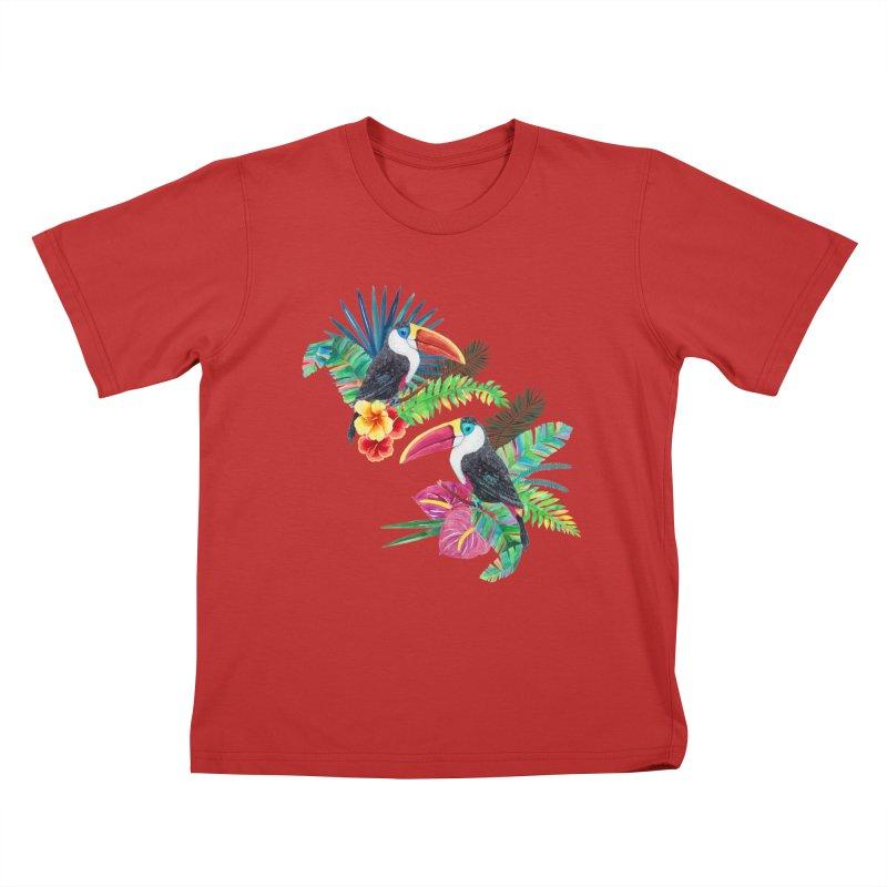 Toucan Birds Kids T-Shirt by StellaCaraman's
