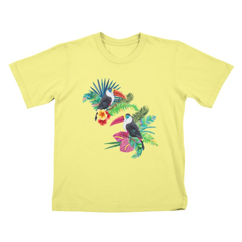 Toucan Birds Kids T-shirt by StellaCaraman's