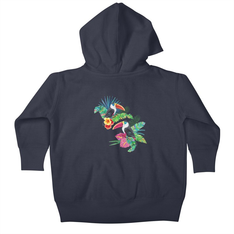 Toucan Birds Kids Baby Zip-Up Hoody by StellaCaraman's