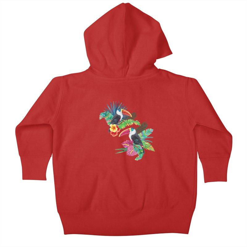 Toucan Birds Kids Baby Zip-Up Hoody by StellaCaraman's