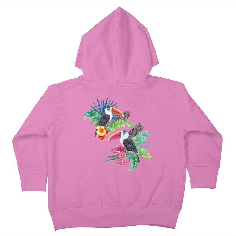 Toucan Birds Kids Toddler Zip-Up Hoody by StellaCaraman's