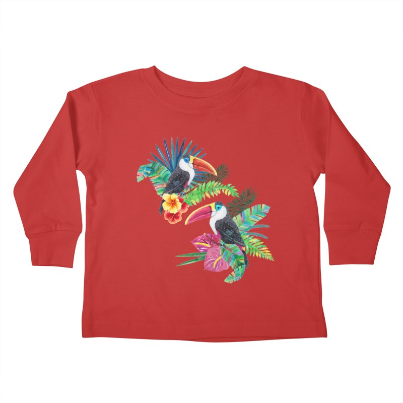 Toucan Birds Kids Toddler Longsleeve T-Shirt by StellaCaraman's