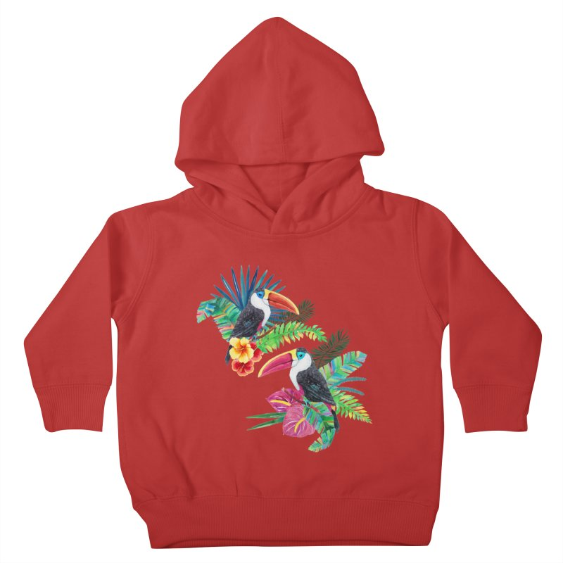 Toucan Birds Kids Toddler Pullover Hoody by StellaCaraman's